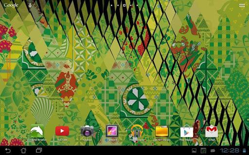 Живые обои Сочи 2014. Живой узор для планшетов на Android