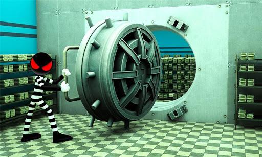 Stickman Bank Robbery Escape скачать на Андроид