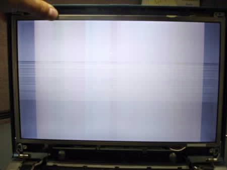 Рябь на экране планшета