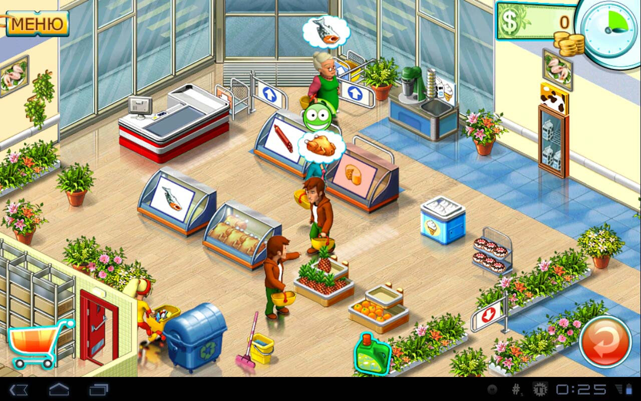 "Игра ""Supermarket mania 2"" для планшетов на Android"