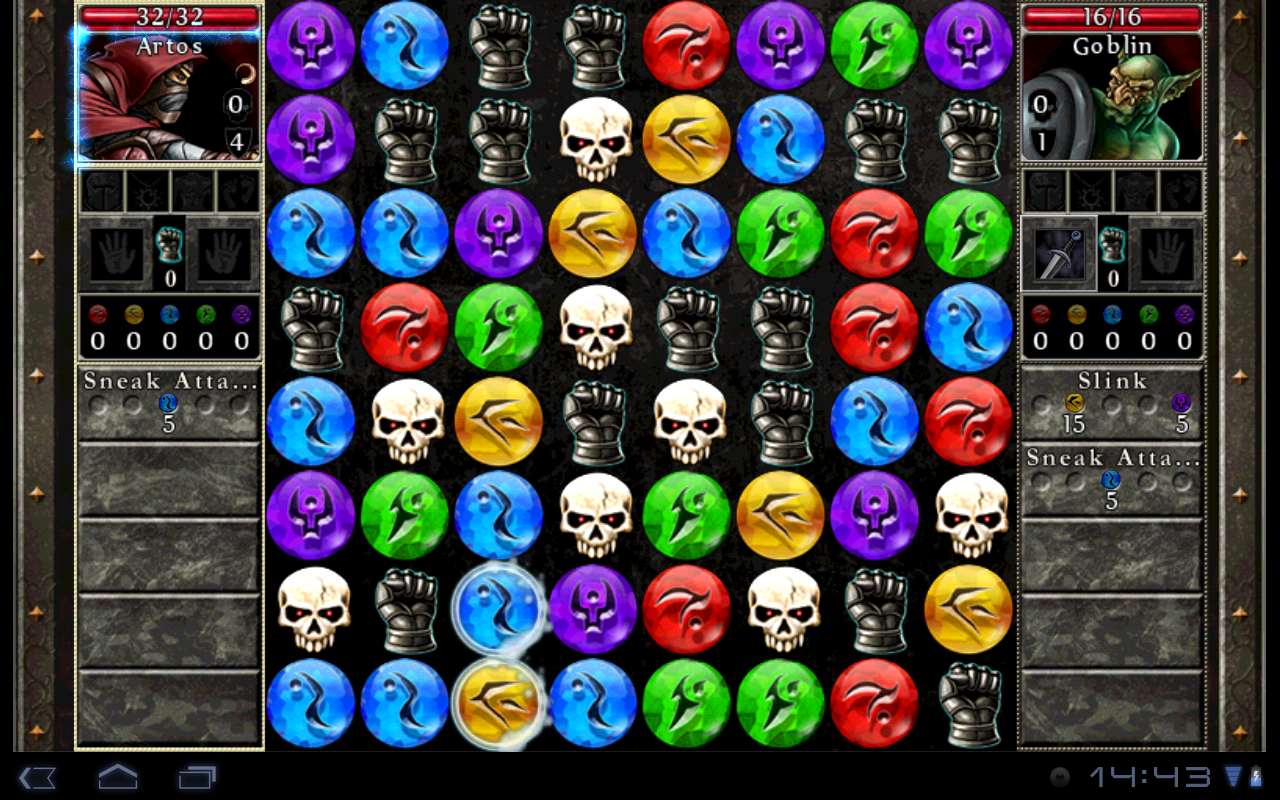 "Игра ""Puzzle Quest 2"" на Андроид"
