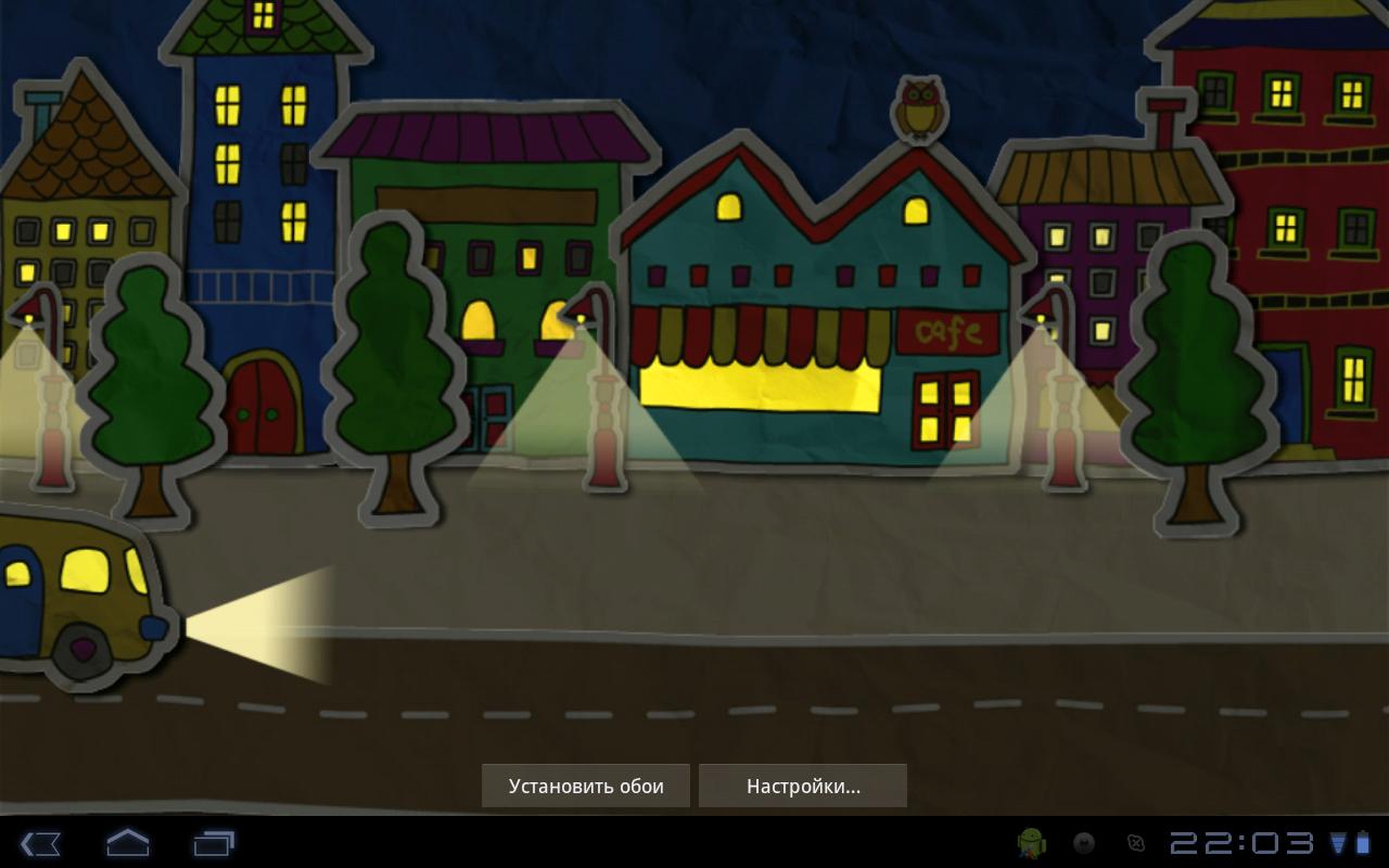 "Живые обои ""Paper Town Live Wallpaper"" для планшетов на Android"
