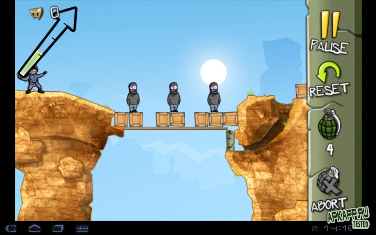 "Игра ""Fragger"" для планшетов на Android"
