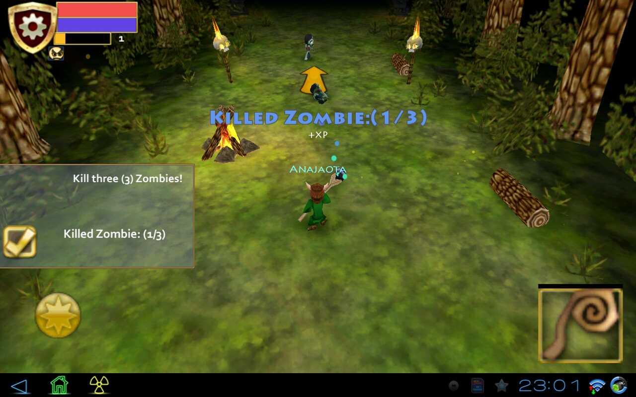 "Игра ""Pocket Legends"" для планшетов на Android"