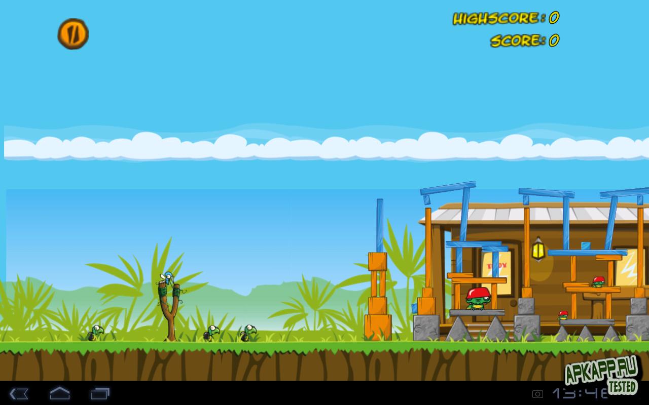 "Игра ""Angry Swamp ChootEm"" для планшетов на Android"
