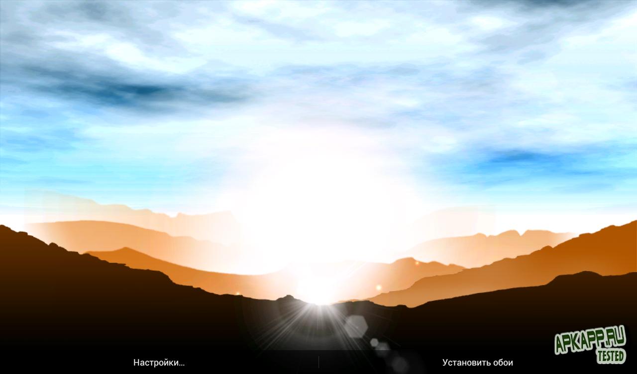 """Живые обои """"Sunrise Pro Live Wallpaper"""" на Андроид"""