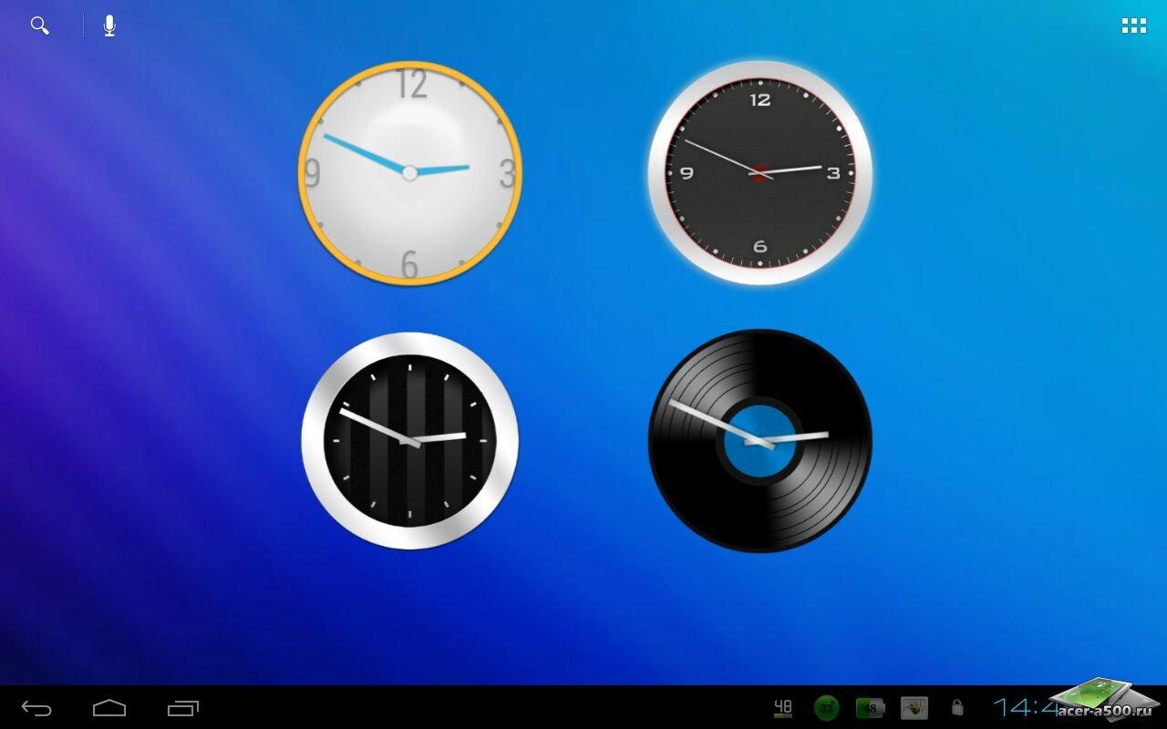 """Часы """"ClockQ Analog - clock widget"""" для планшетов на Android"""