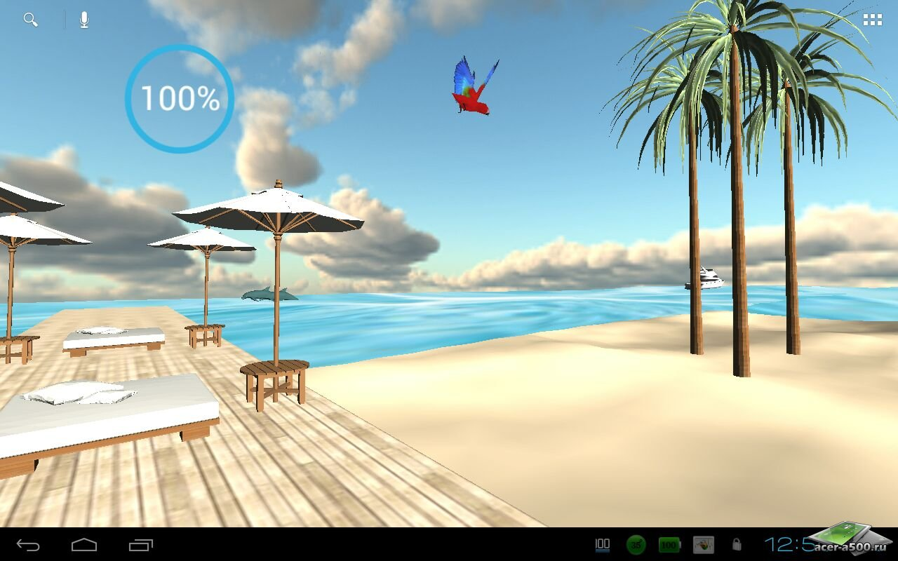 "Живые обои ""Beach In Bali 3D PRO LiveWallpaper"" для планшетов на Android"