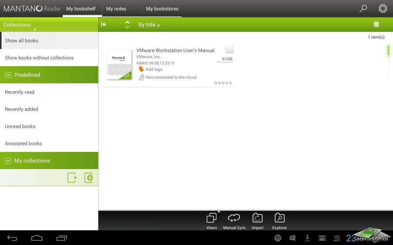 """Приложение для чтения """"Mantano Reader Premium"""" на Андроид"""
