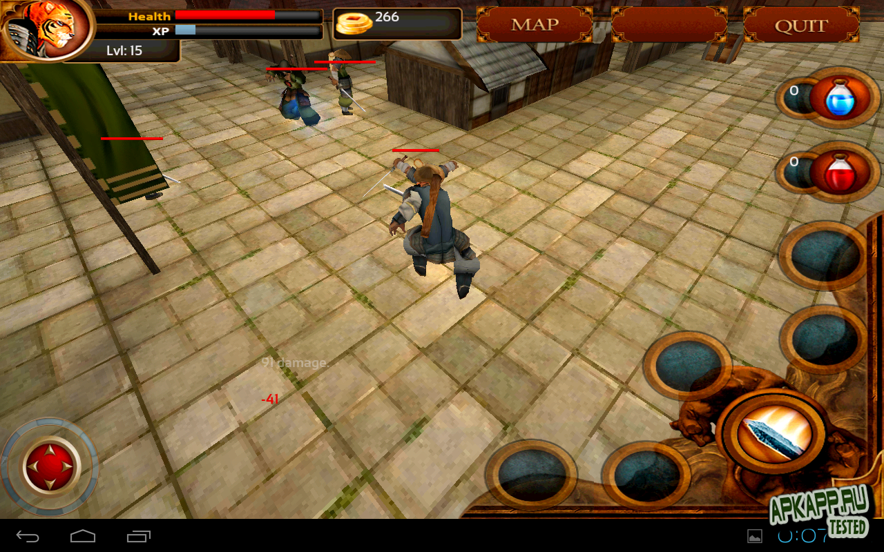 "Игра ""Samurai Tiger"" на Андроид"