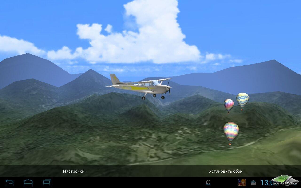 """Живые обои """"Aviation 3D - Light Plane"""" для планшетов на Android"""