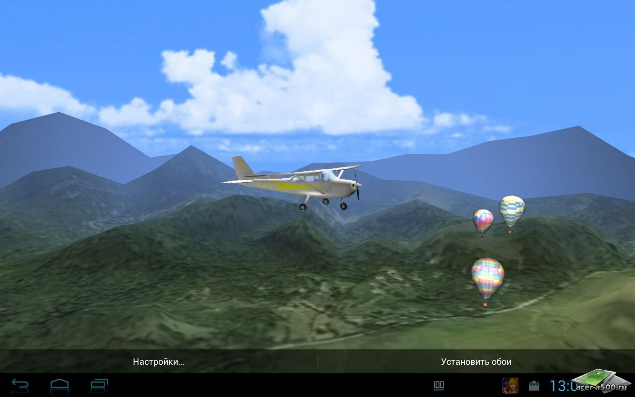 "Живые обои ""Aviation 3D - Light Plane"" на Андроид"