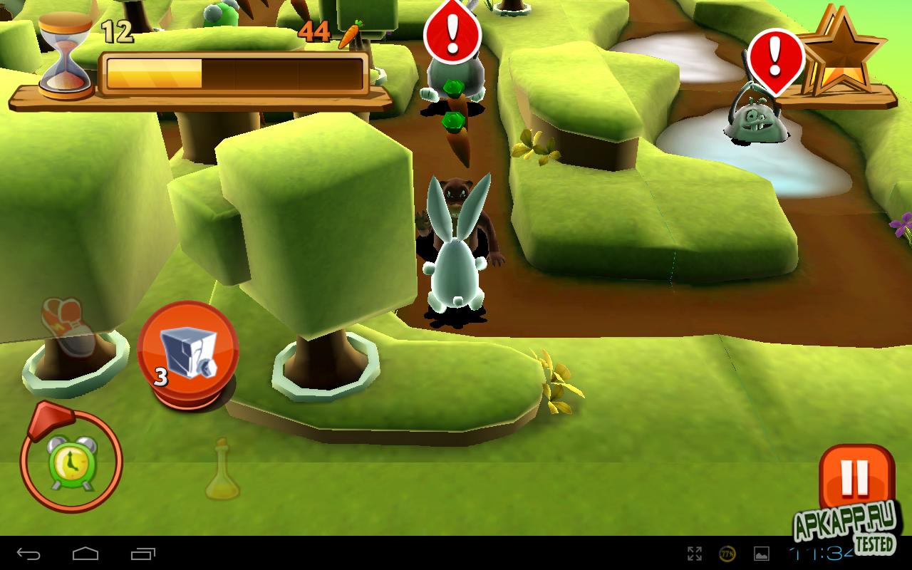 "Игра ""Bunny Maze HD"" для планшетов на Android"