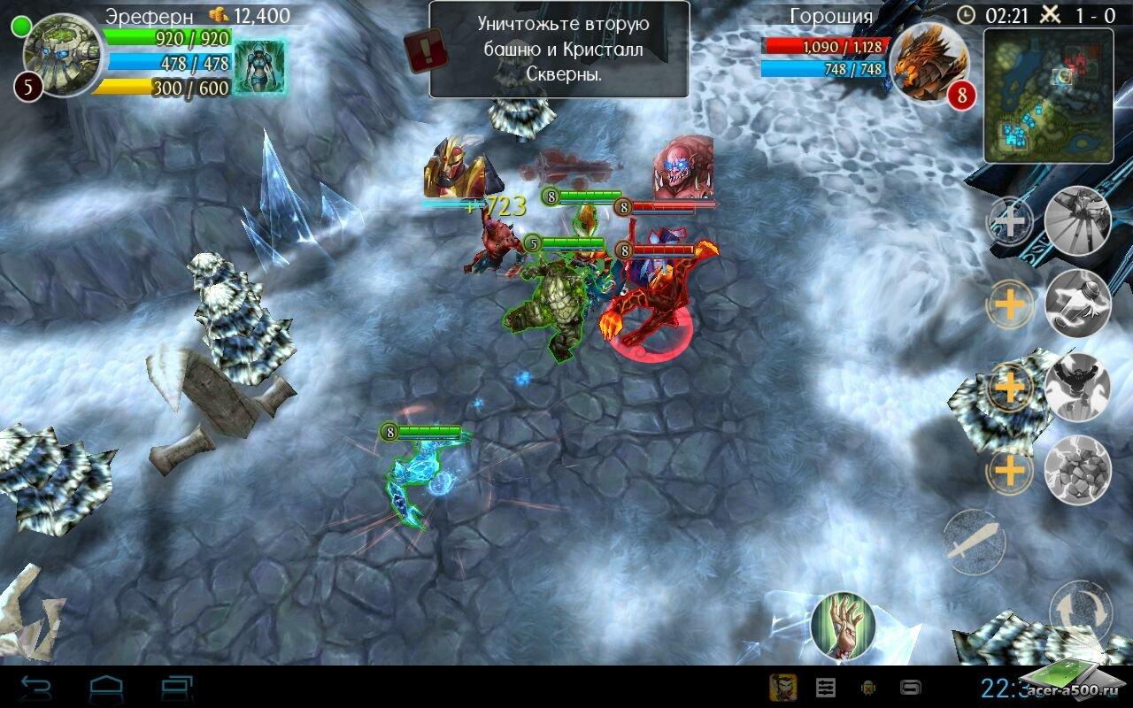 "Игра ""Heroes of Order & Chaos"" для планшетов на Android"
