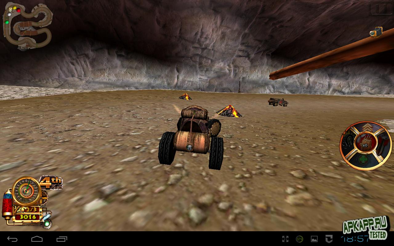 "Игра ""Steampunk Racing 3D"" на Андроид"
