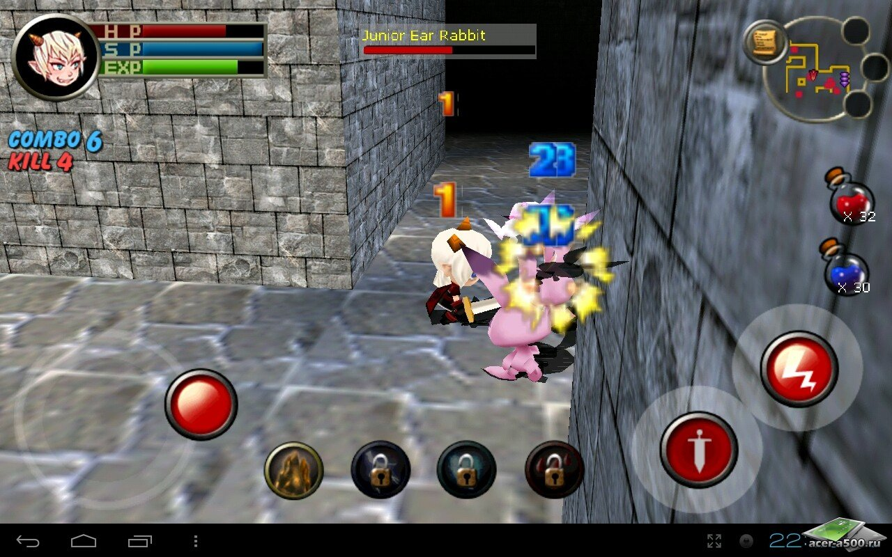 "Игра ""3D RPG Dungeon&Knight Plus"" для планшетов на Android"
