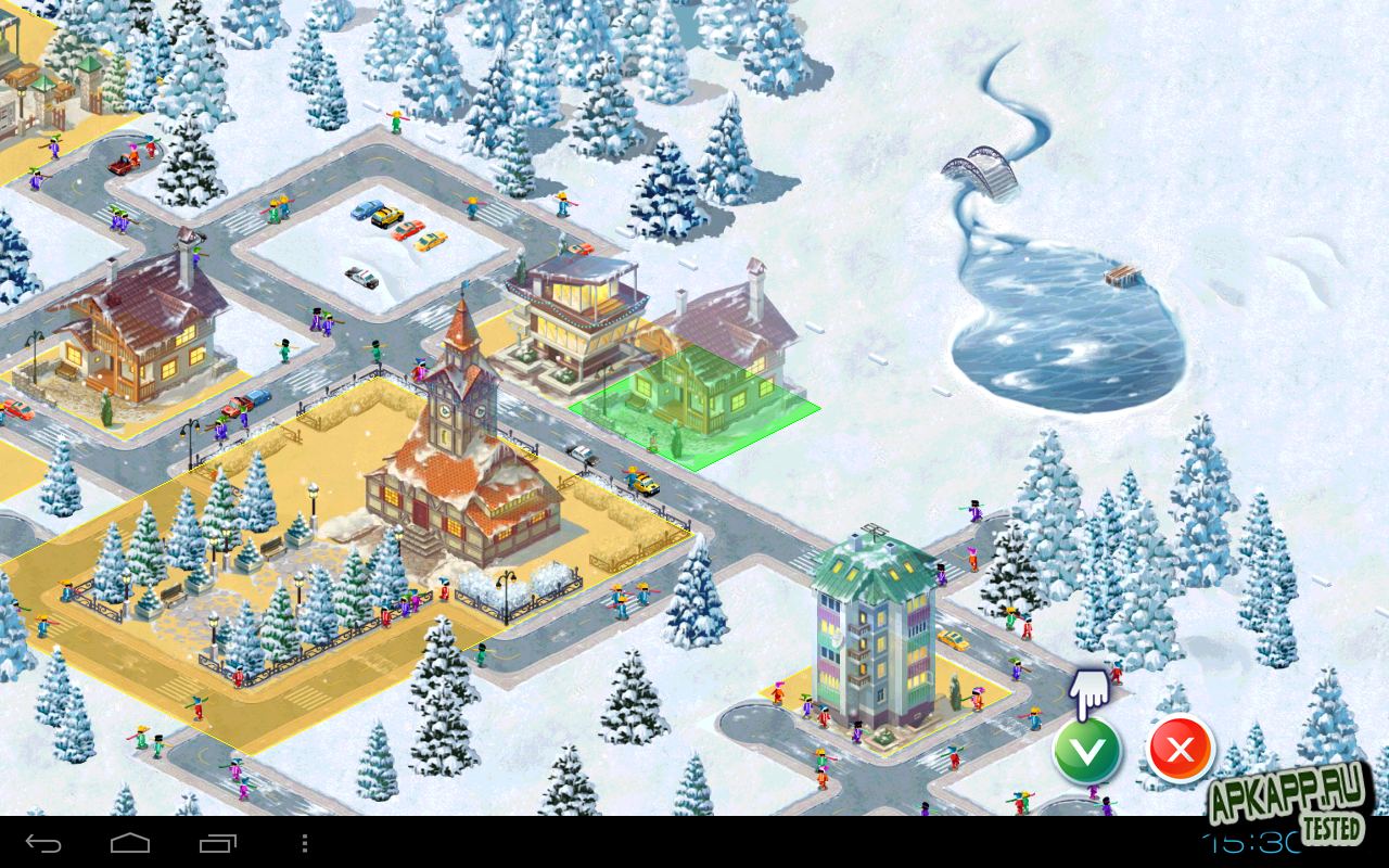 "Игра ""Ski Park"" для планшетов на Android"