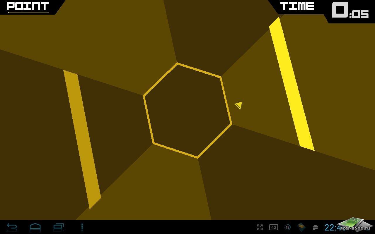 "Игра ""Super Hexagon"" для планшетов на Android"