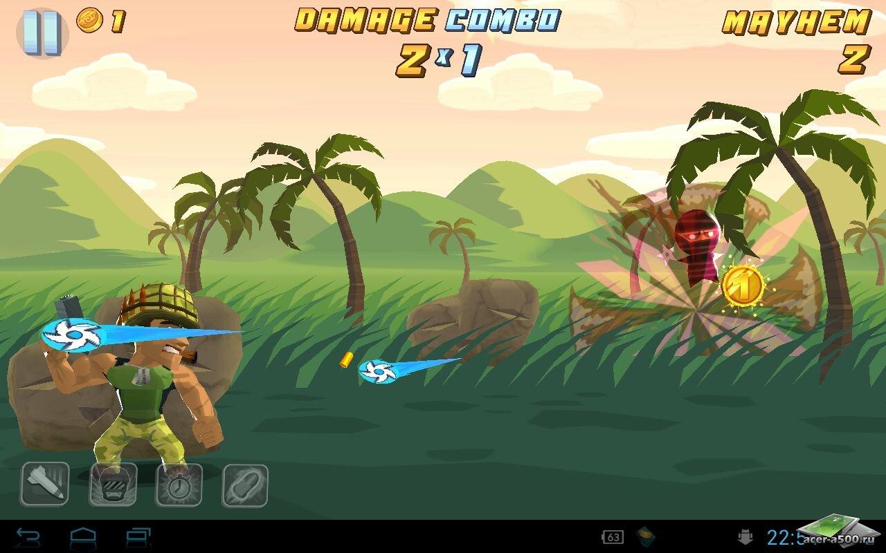 "Игра ""Major Mayhem"" для планшетов на Android"