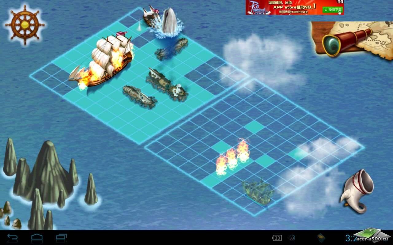 "Игра ""Battle Ship"" для планшетов на Android"