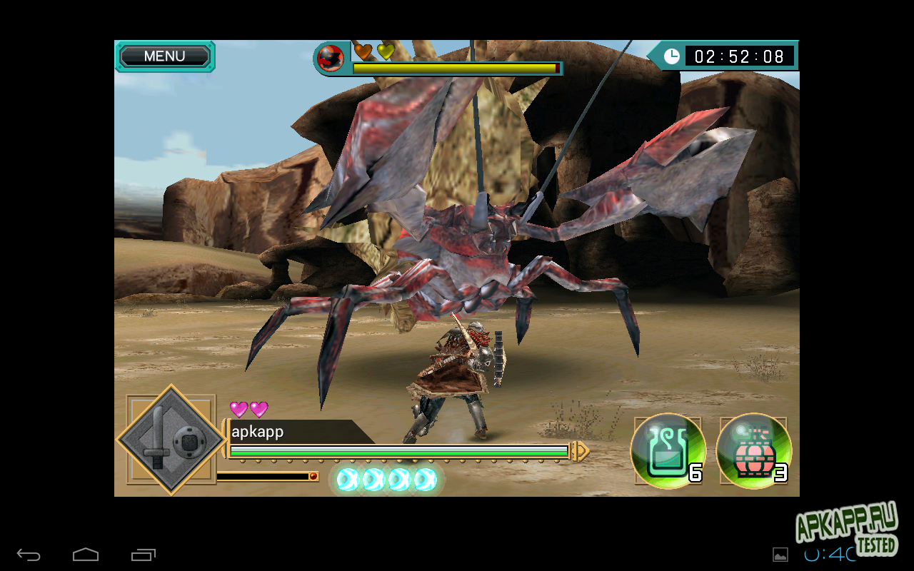 "Игра ""Monster Hunter: Dynamic Hunting"" для планшетов на Android"