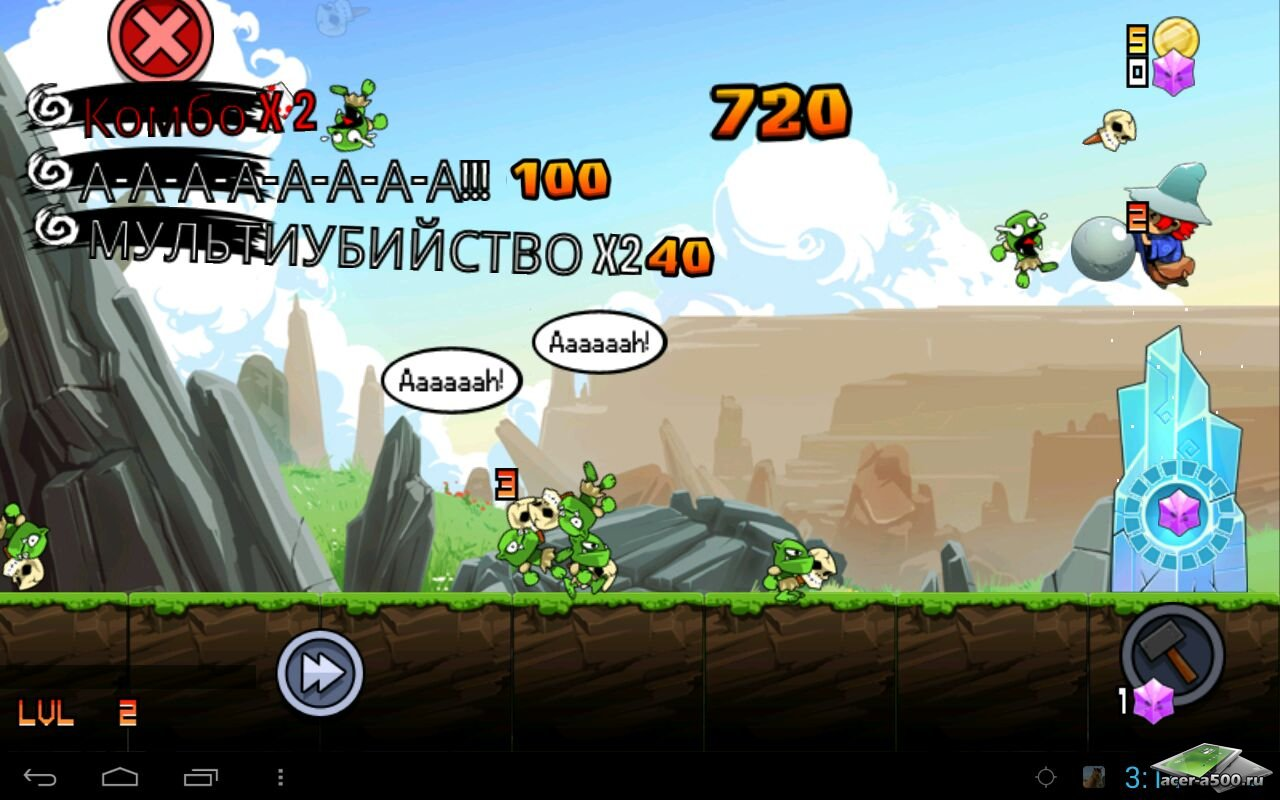 "Игра ""Goblins Rush"" для планшетов на Android"