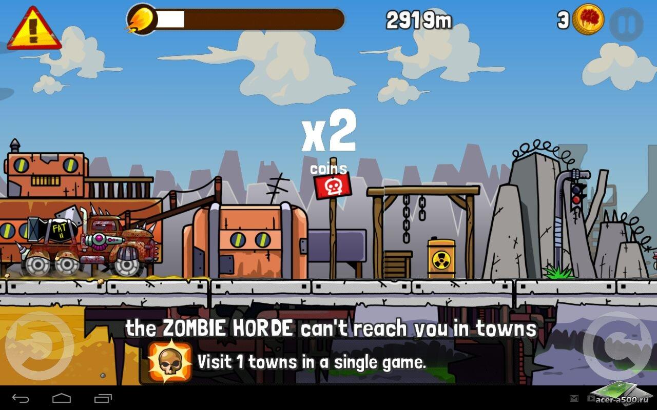 "Игра ""Zombie Road Trip"" на Андроид"
