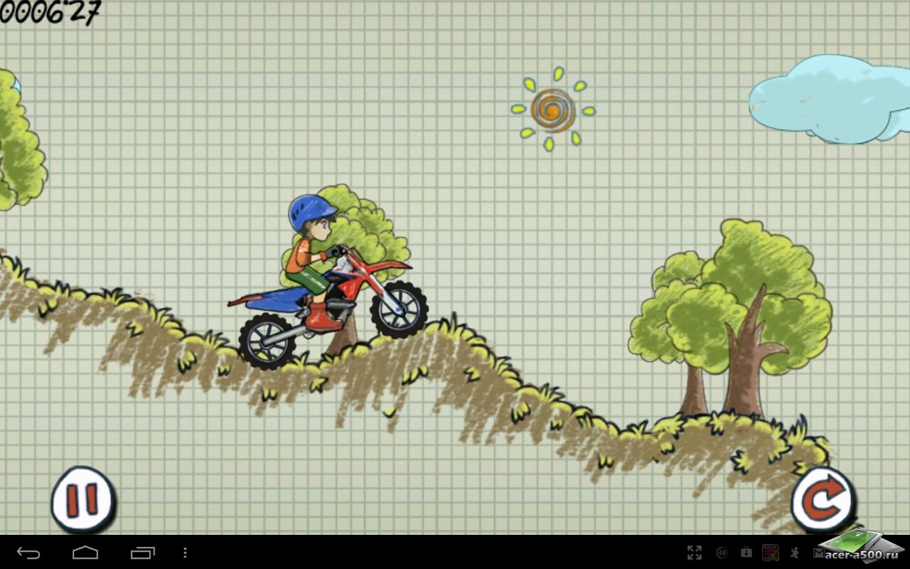 "Игра ""Doodle Moto"" для планшетов на Android"
