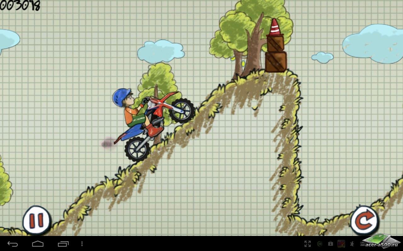"""Игра """"Doodle Moto"""" на Андроид"""
