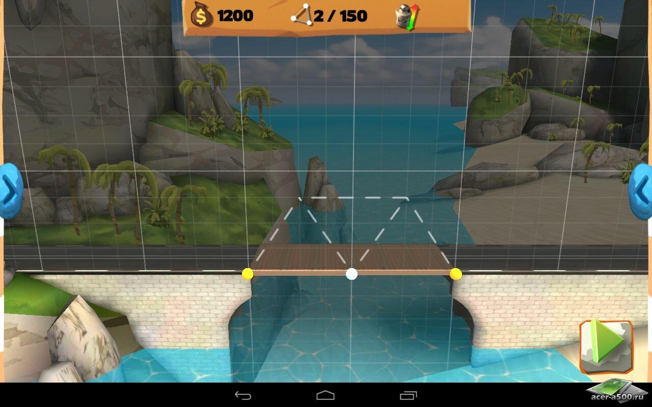 """Игра """"Bridge Constructor Playground"""" для планшетов на Android"""