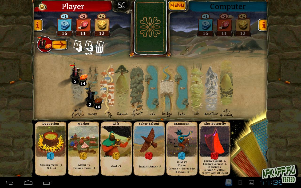 "Игра ""Amber Route"" для планшетов на Android"