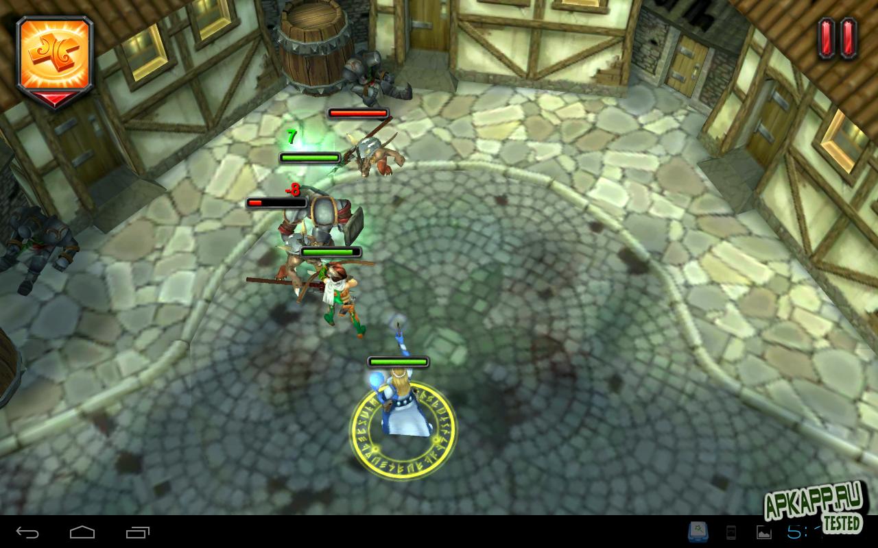 "Игра ""Heroes of destiny"" для планшетов на Android"