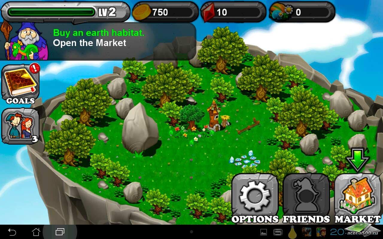 "Игра ""DragonVale"" для планшетов на Android"