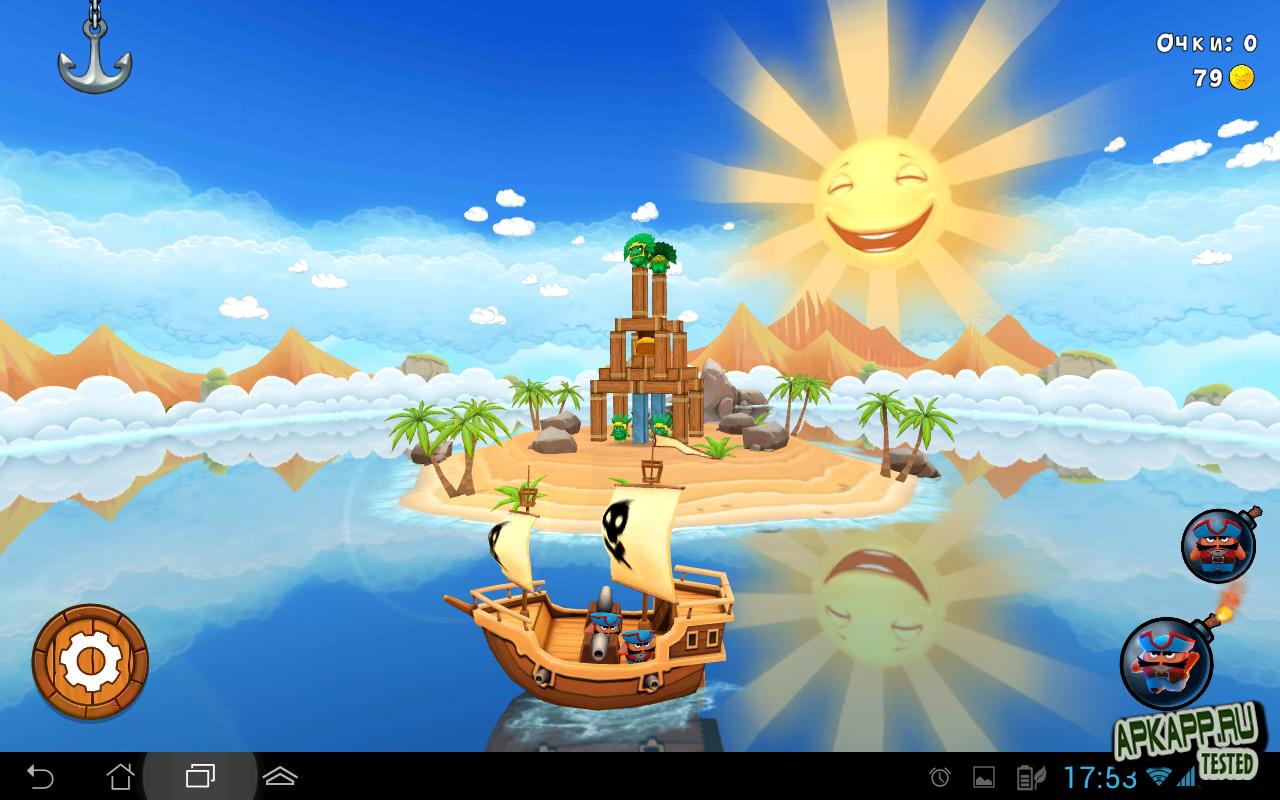 "Игра ""Potshot pirates"" для планшетов на Android"