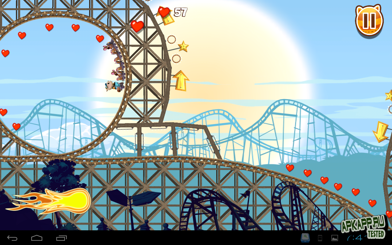 "Игра ""Nutty Fluffies Rollercoaster"" на Андроид"