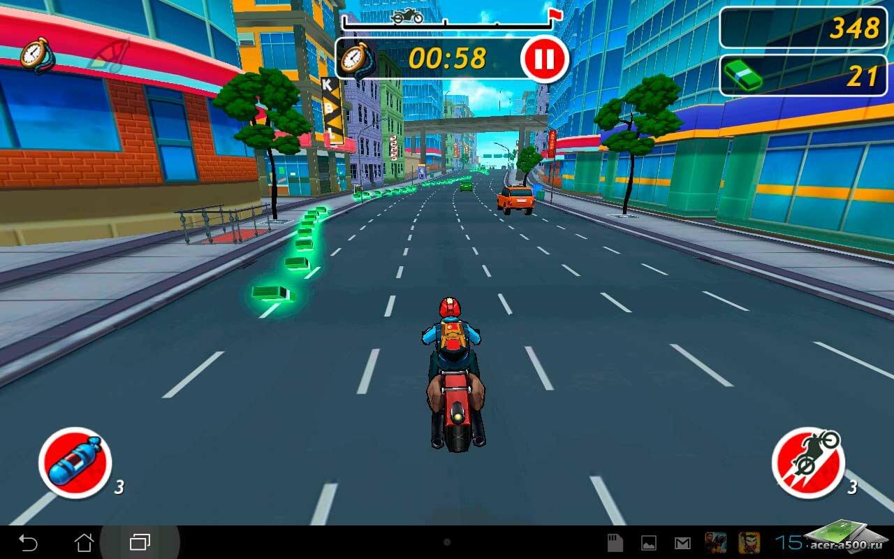 """Игра """"Moto Locos"""" на Андроид"""