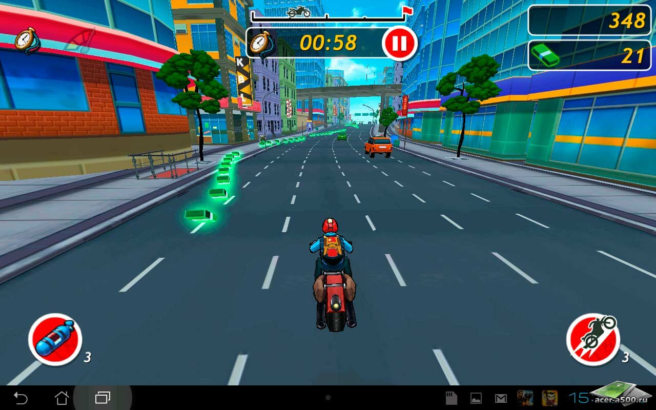 "Игра ""Moto Locos"" для планшетов на Android"