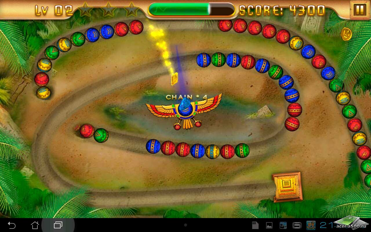 "Игра ""Egypt Zuma – Temple of Anubis"" для планшетов на Android"
