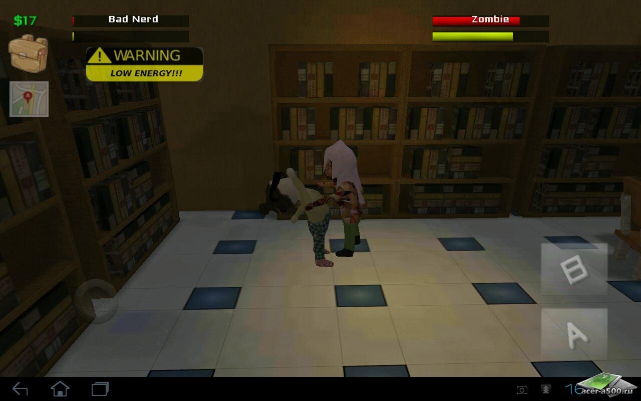 """Игра """"Nerd vs zombies"""" на Андроид"""