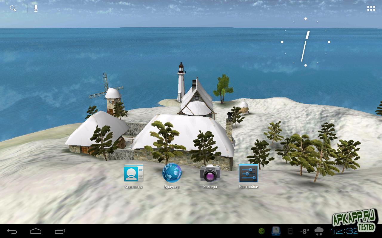 """Живые обои """"True Weather 3D"""" для планшетов на Android"""
