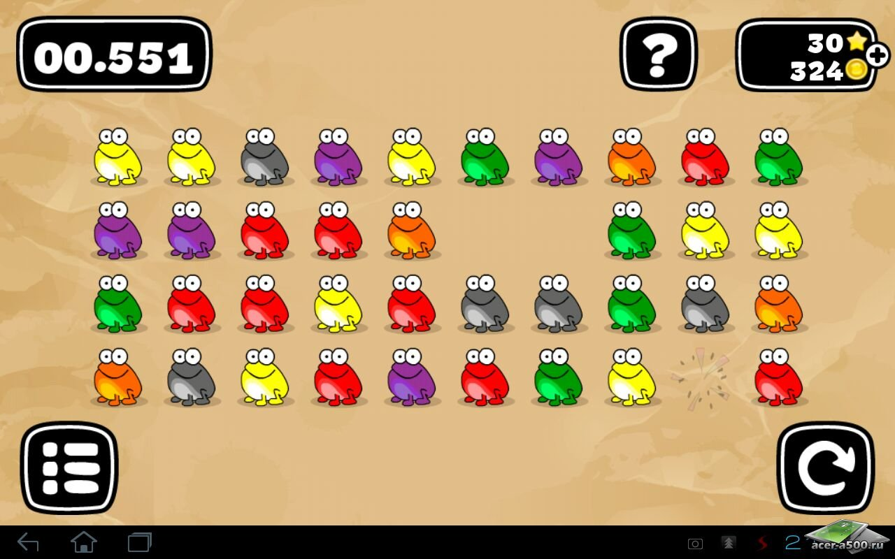 "Игра ""Tap the frog: Doodle"" для планшетов на Android"