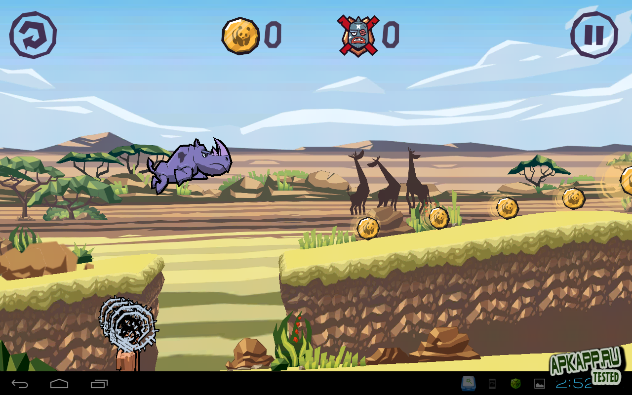 "Игра ""WWF Rhino Raid"" для планшетов на Android"