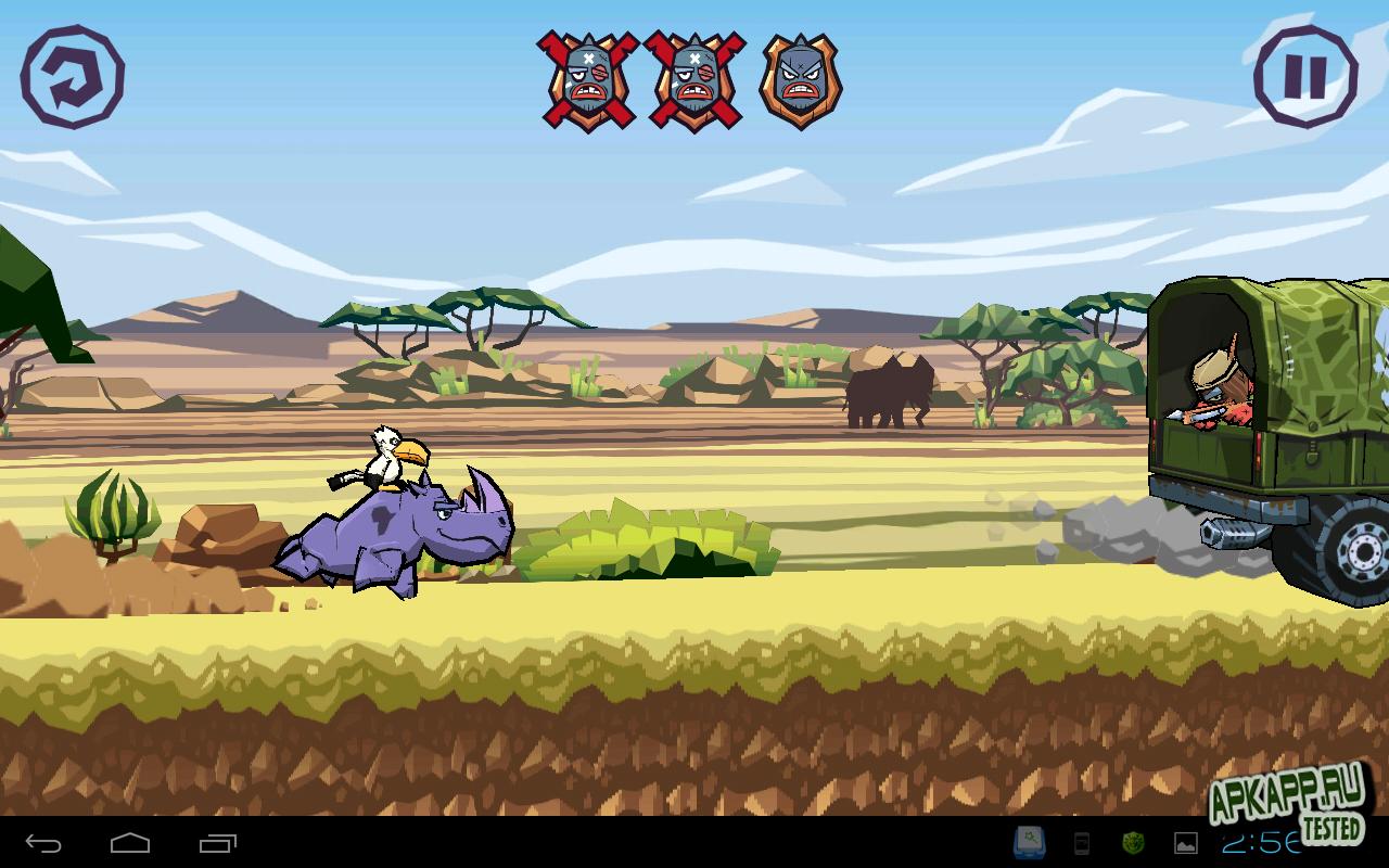 "Игра ""WWF Rhino Raid"" на Андроид"