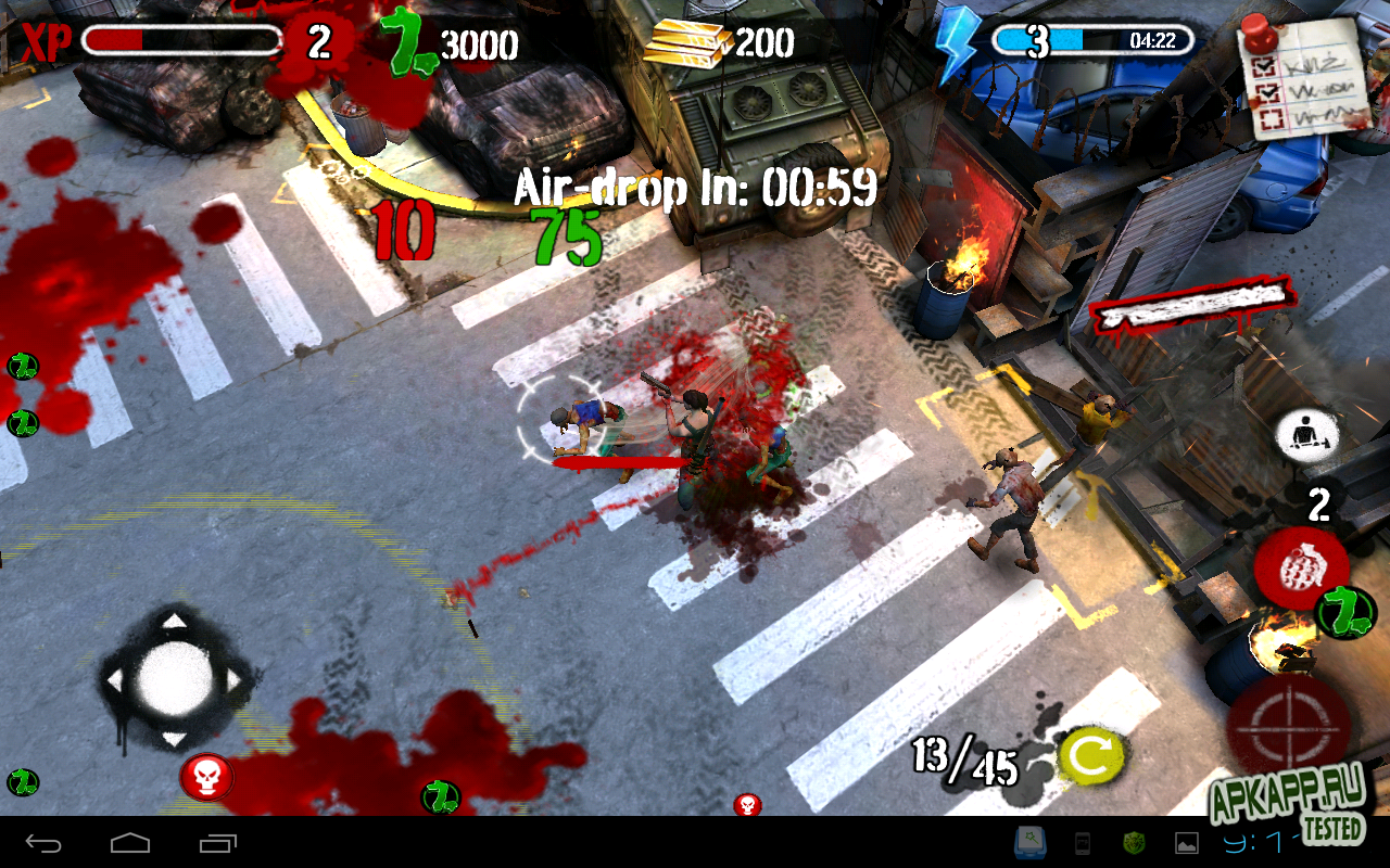 "Игра ""Zombie HQ"" для планшетов на Android"