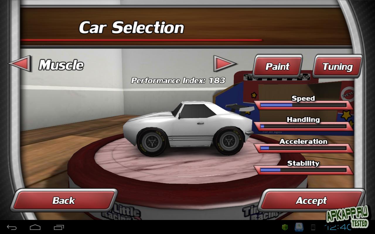 "Игра ""Tiny Little Racing 2"" на Андроид"