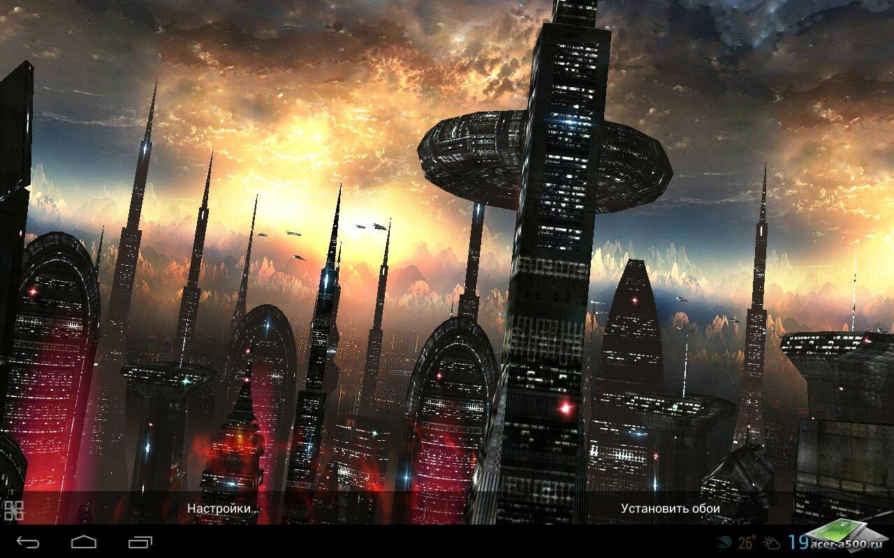 """Живые обои """"Space Colony"""" для планшетов на Android"""