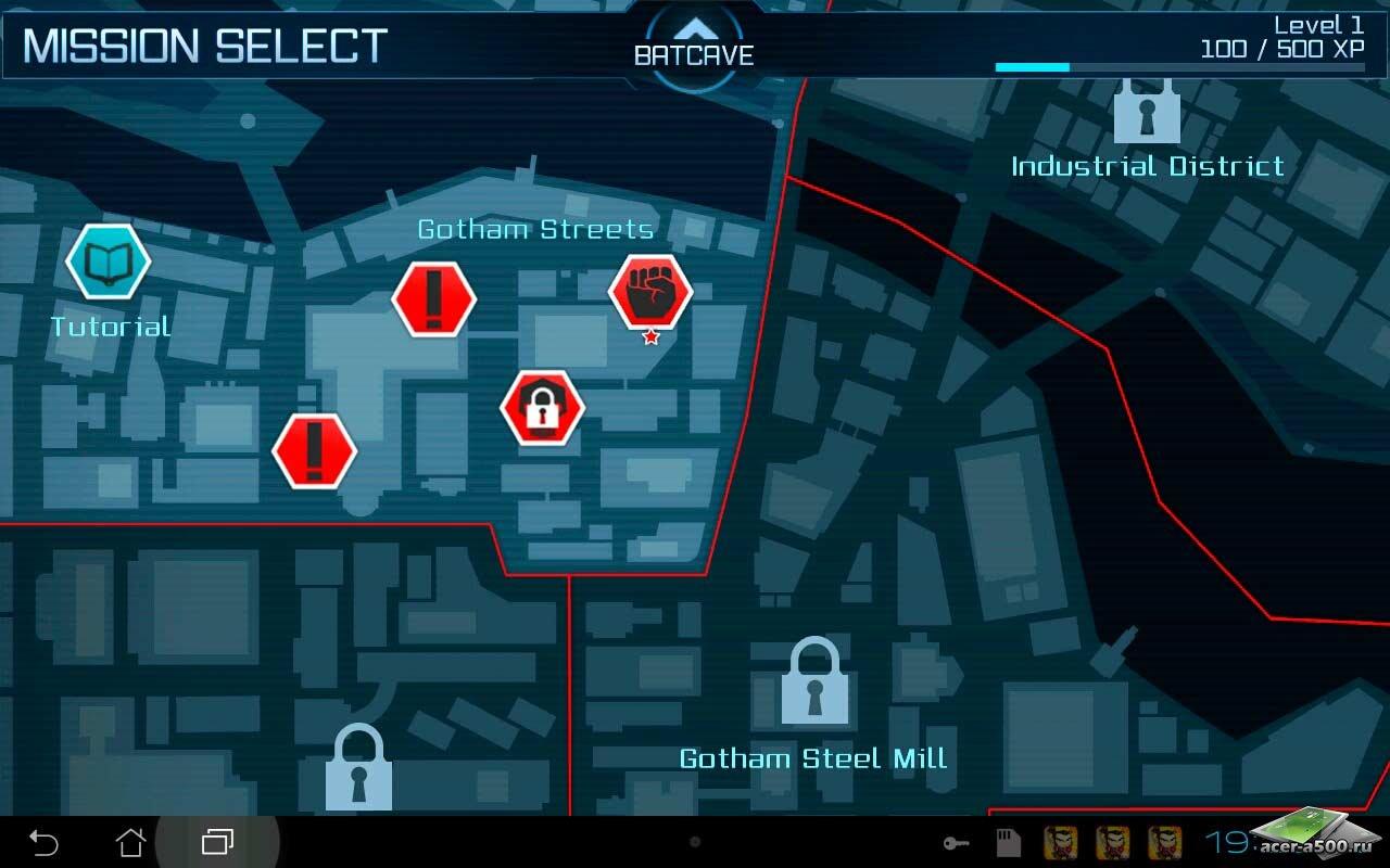 "Игра ""Batman: Arkham City Lockdown"" на Андроид"
