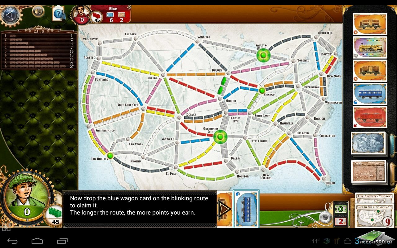 "Игра ""Ticket to Ride"" на Андроид"