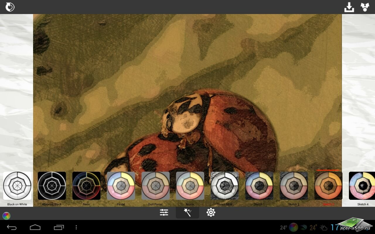 "Фоторедактор ""XnSketch Pro"" для планшетов на Android"