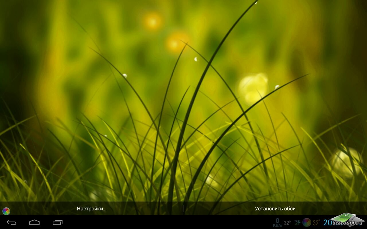 """Живые обои """"Colorful Summer Meadow"""" для планшетов на Android"""